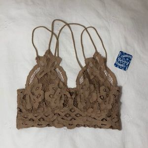 NWT nude / tan colored free people bralette